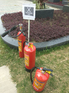 Fire department made a mock drill at Gulshan Ikebana
