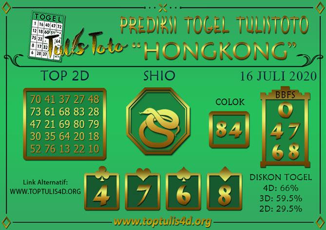 Prediksi Togel HONGKONG TULISTOTO 16 JULI 2020