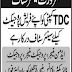 TDC Company Jobs 2018 for Admin, Finance, Project Manager & Other Retired Professionals for Project Vacancies Advertisement Latest