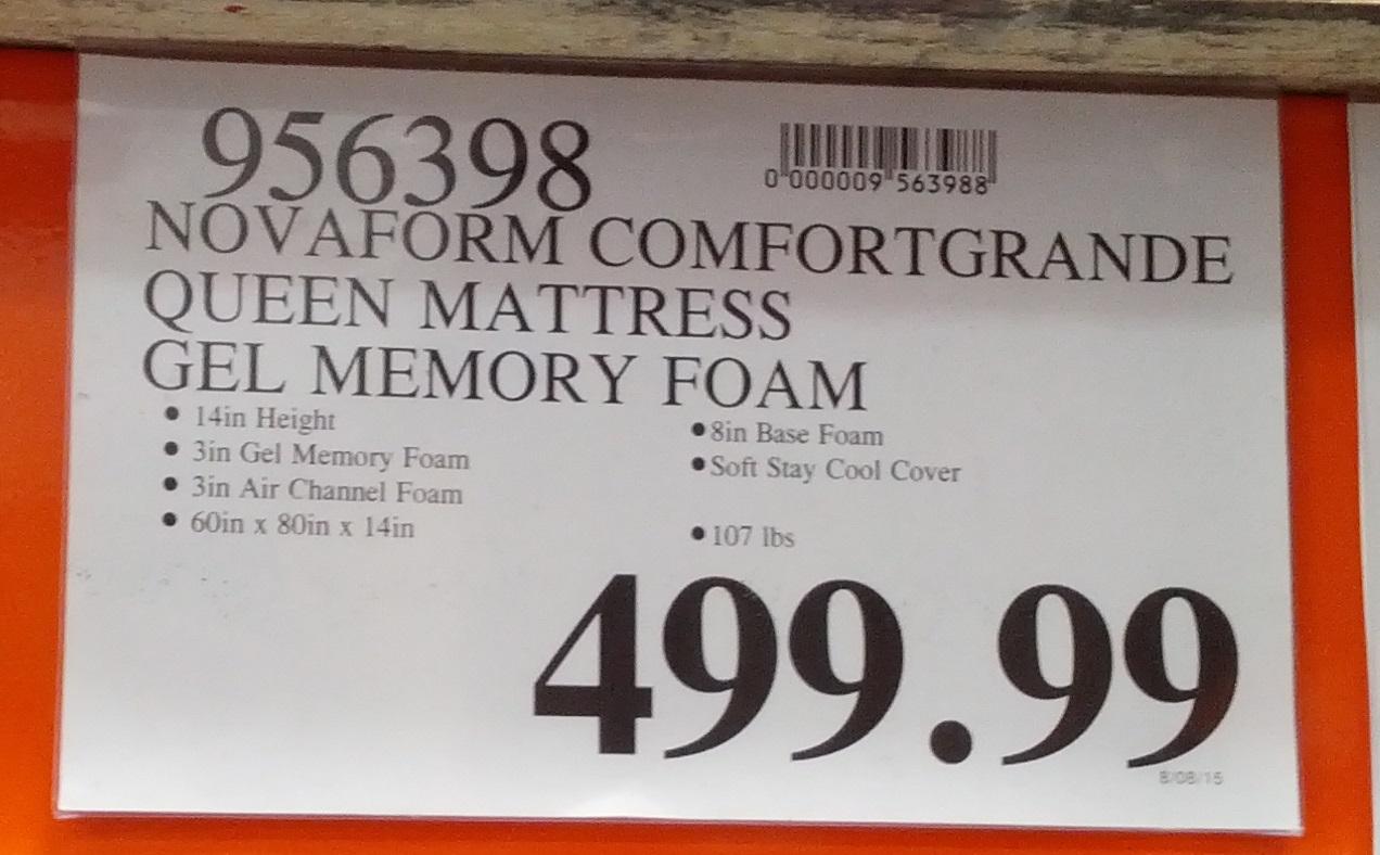 Novaform Comfortgrande Queen Gel Memory Foam Mattress