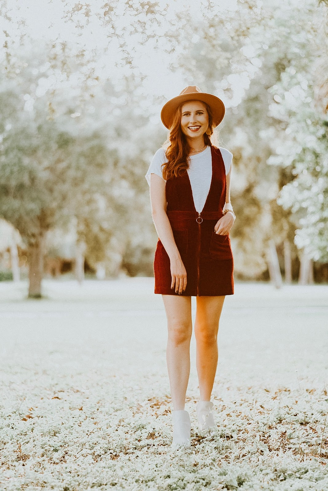 affordable by amanda wearing lulu's corduroy dress for fall