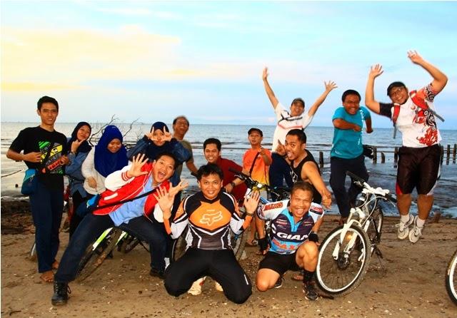 Gowes Pantai Tanjung Limau 2014, sebelum penanaman mangrove