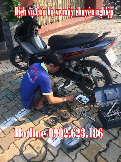 Cứu hộ sửa chữa xe máy Nouvo 3 gặp sự cố tận nơi tại TpHCM