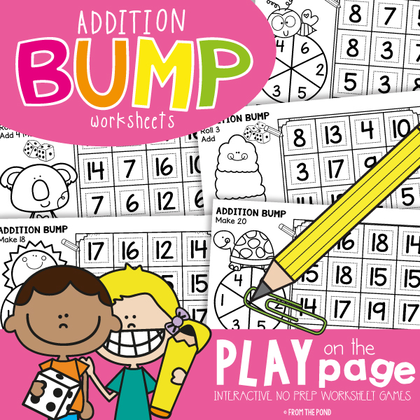 Bump Addition Games From The Pond