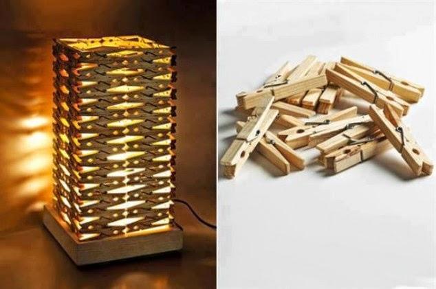 realizar una lampara con pinsas