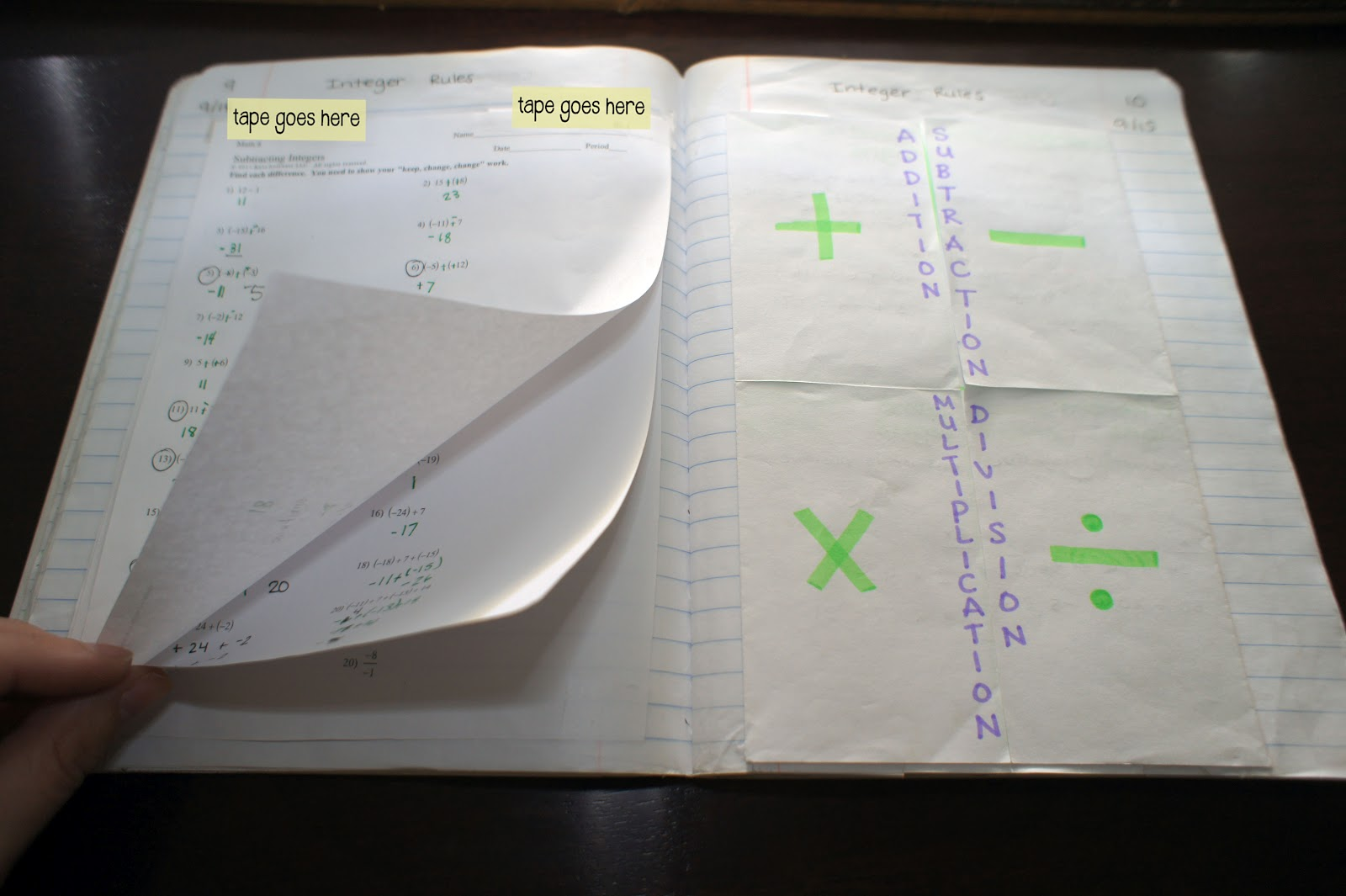 Everybody Is A Genius Integer Foldable