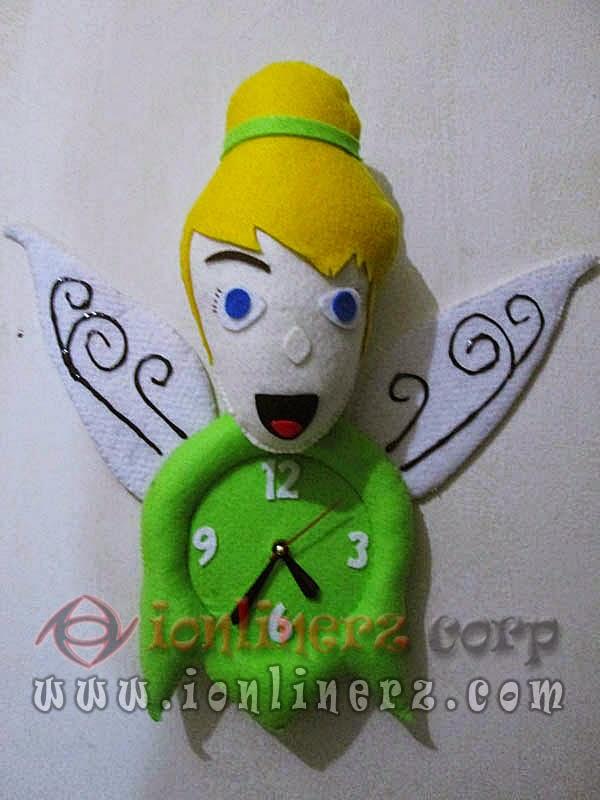 Jam Dinding Flanel Karakter Kartun Boneka Tinker Bell