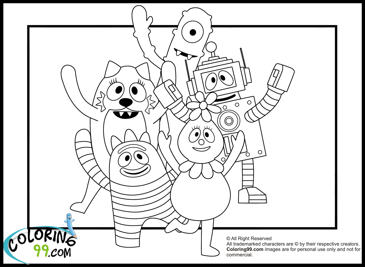 yogabbagabba coloring pages - photo #22