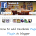 How To Add Facebook Page Plugin/Like Box In Blogger