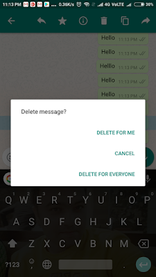 Enable WhatsApp's Delete Message Feature : You can Delete Messages On WhatsApp after you send them : APK to Download