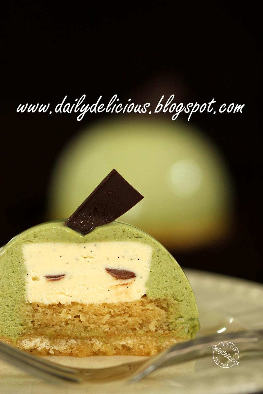 Dark Chocolate Matcha Layer Cake