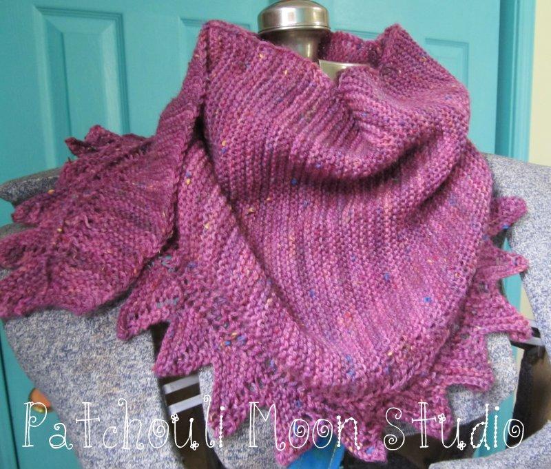 Patchouli Moon Studio Garter Knit Baktus Scarf