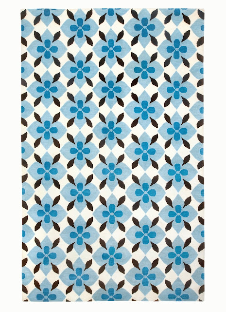COCOCOZY Capel Rugs rug indo Tibetan hand knot knotted wool rug blue brown floor covering design decor home house apartment