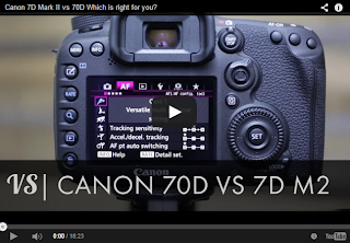 Canon EOS 7D Mark II vs Canon EOS 70D - YouTube Video