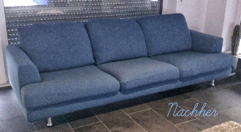 Sofa Bezug kathi s nähwelt vorher nacher der sofabezug