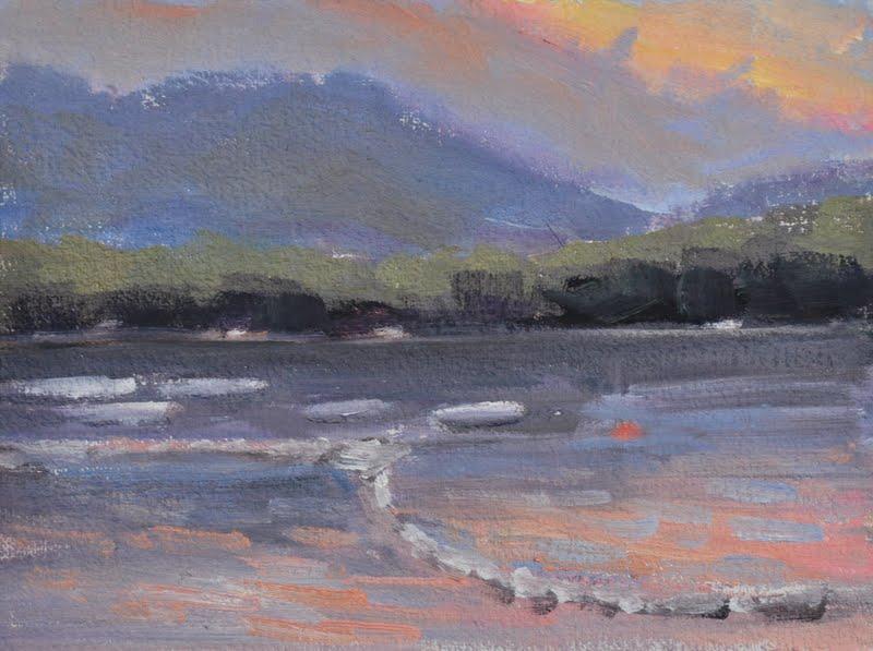 Nightfall On Ossipee Lake Mary Byrom Fine Art