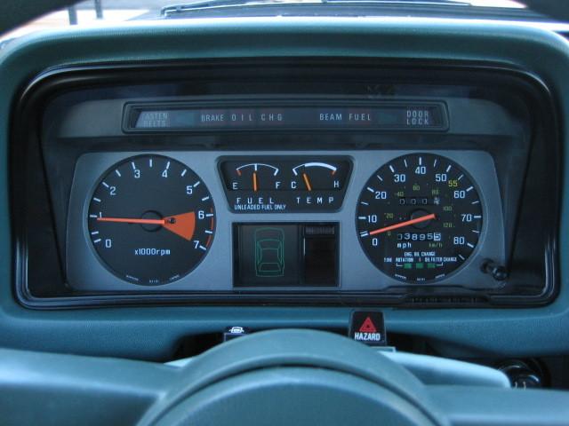 1980 Honda Accord Interior
