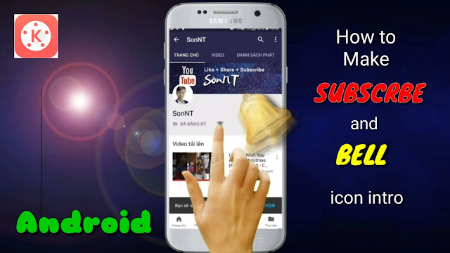 How to make SUBSCRIBE and BELL icon intro on Smartphone