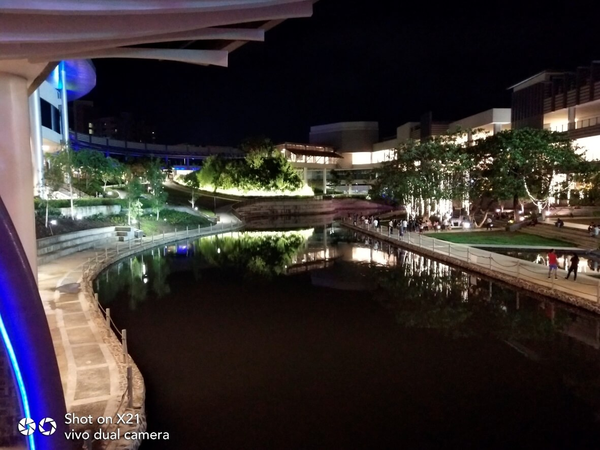 Vivo X21 Main Cameras Sample - Outdoor, Water Park, Night