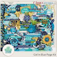 kit : Girl In Blue Page Kit by JB Studio