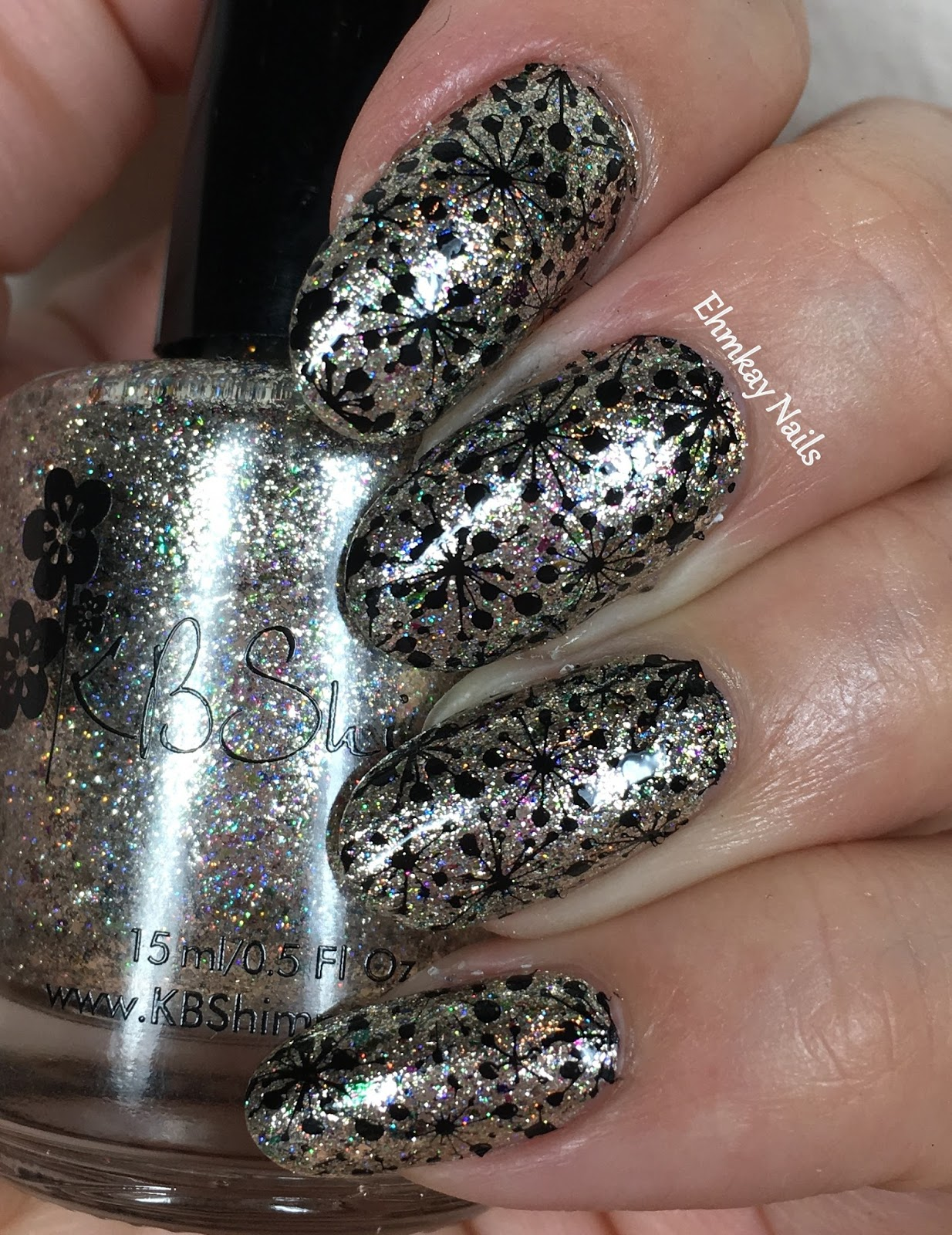 New Nail Polish Trends: Ehmkay Nails: New Year's Eve Nail Art With KBShimmer Bling