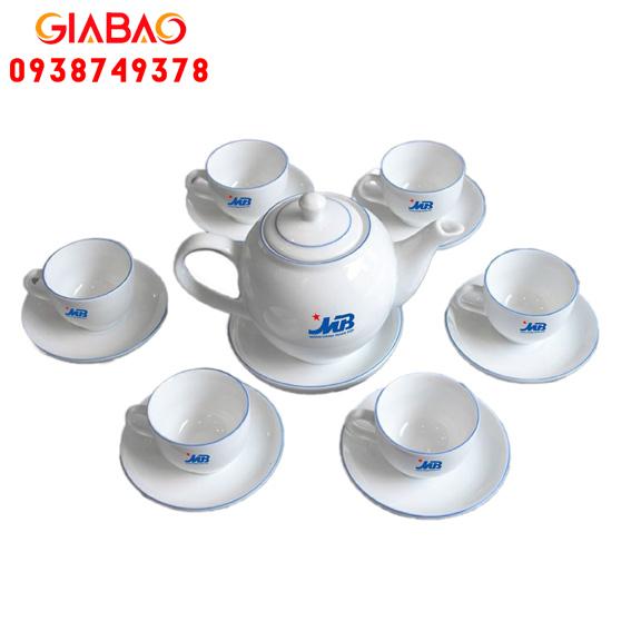 bộ ấm trà sứ trắng giá rẻ