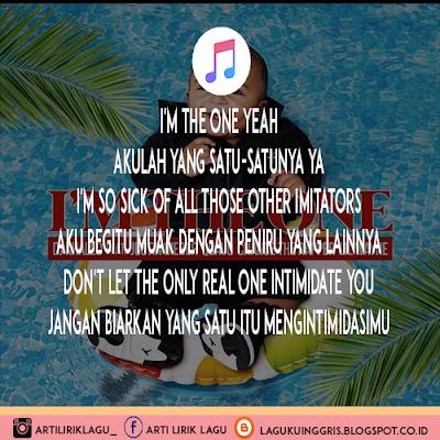 Arti Lirik Lagu I'm The One - DJ Khaled