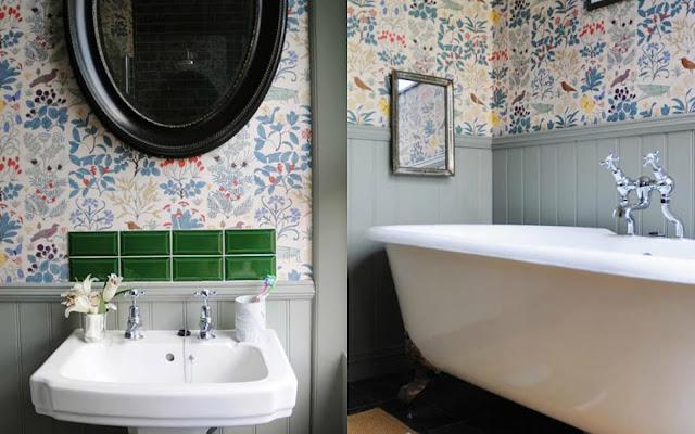 12 wytapetowanych łazienek, w których się zakochasz - CZYTAJ DALEJ