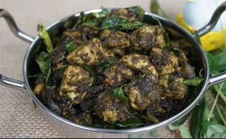 Karuveppilai Chicken / Curry leaf Pepper Chicken in Tamil