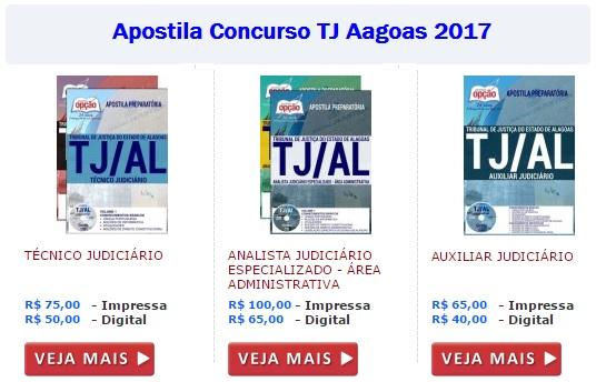 Apostila concurso TJ Alagoas 2017 gratis
