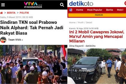 Ketampol Sendiri kan Ahirnya,Ngomongin Prabowo Naik Alphard, Ternyata....