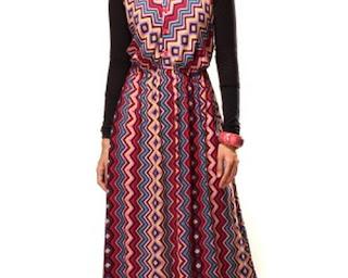 Model Baju Terusan Wanita Celana Panjan Modern Brokat Batik Terbaru