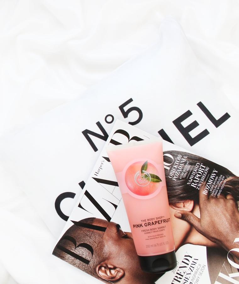 Ulubieńcy Sierpień 2016 The Body Shop Pink Grapefruit Sorbet do ciała