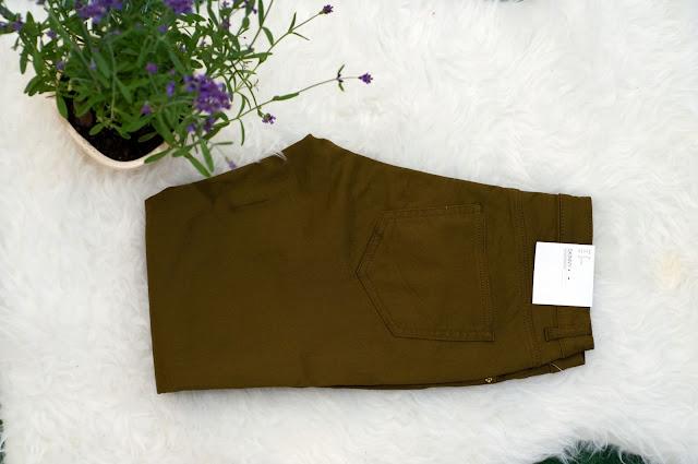 spodnie z H&M z elastanem i bawełną kolor brązowy