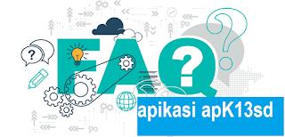 tanya jawap aplikasi raport k13 sd