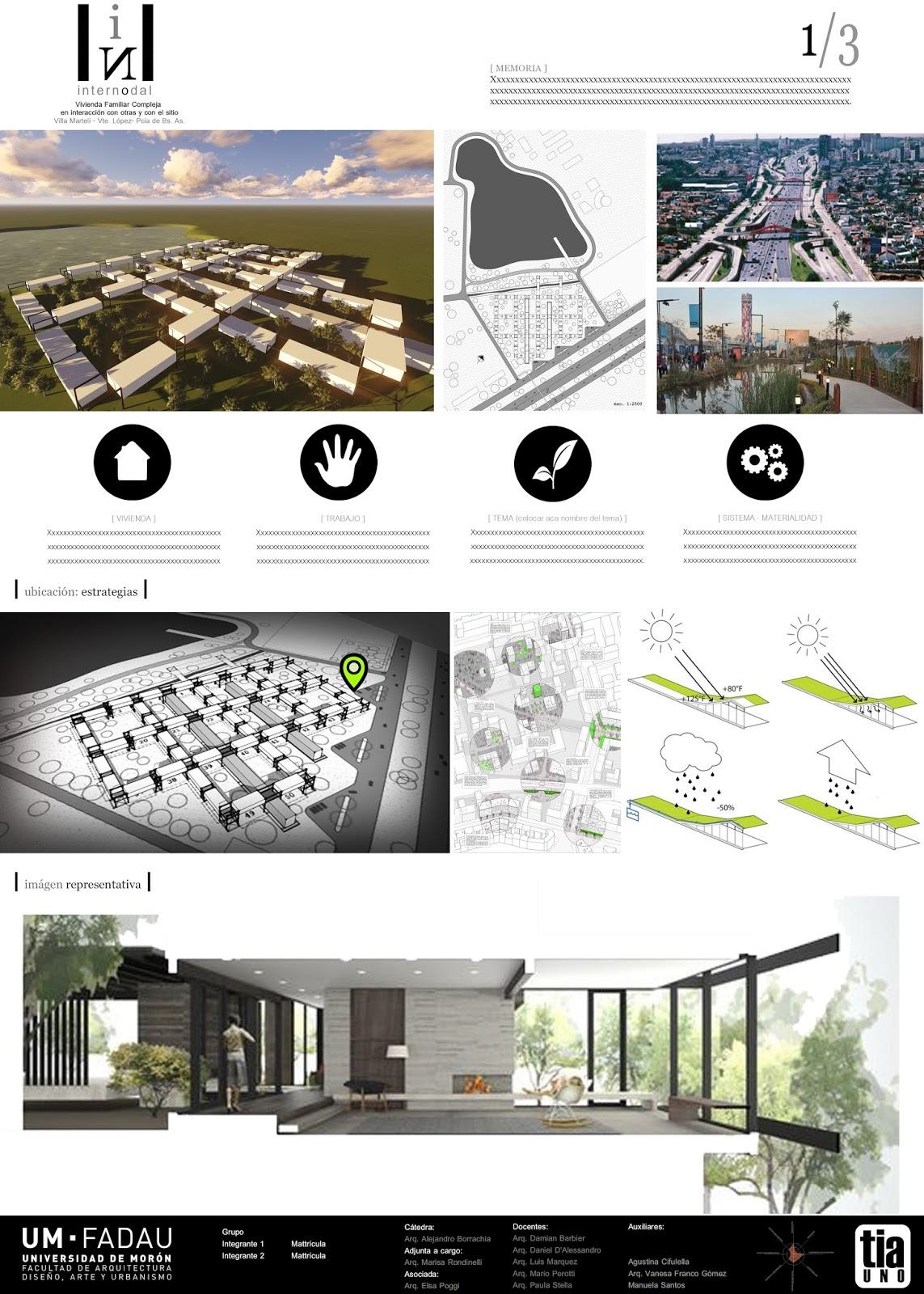 Arquitectura 1 l minas modelo til para la entrega for Laminas arquitectura
