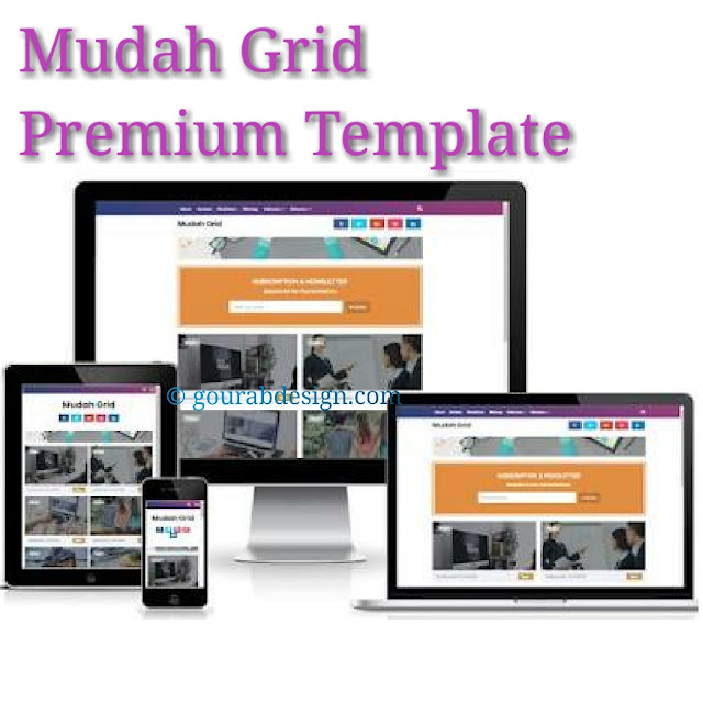 Mudah grid gallery blogger template