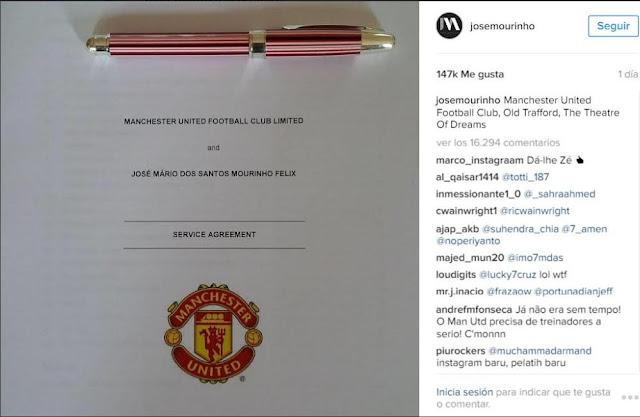 Mourinho se abre cuenta en Instagram