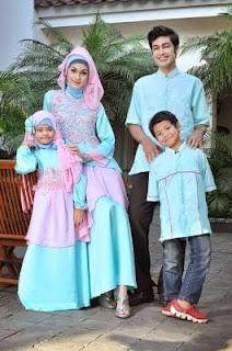 Baju Muslim Keluarga Ayah Ibu Dan Anak