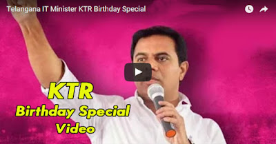 Telangana IT Minister KTR Birthday Special