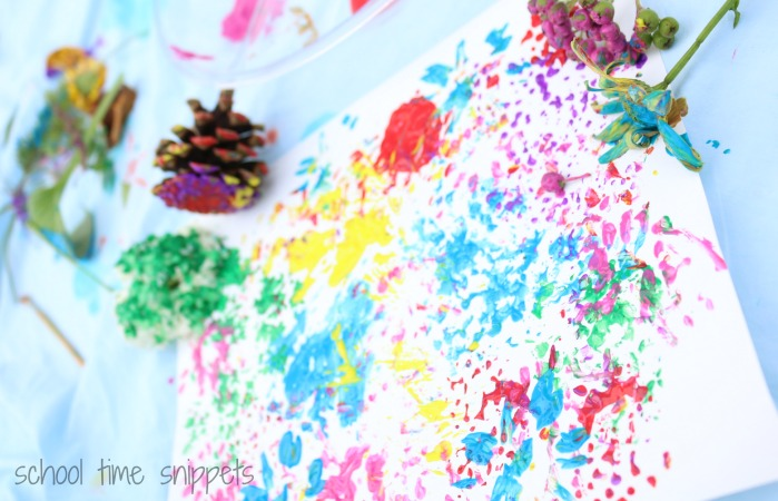 Nature Painting with Kids
