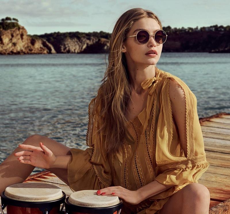 Gigi Hadid x Vogue Eyewear 2018 Campaign