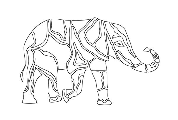 szablon słoń