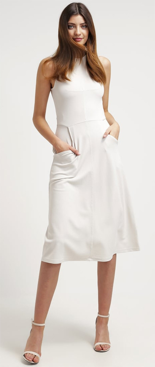 Robe midi blanche French Connection