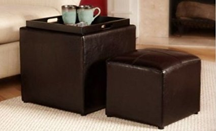 Designs4Comfort Park Avenue Single Ottoman with Stool,