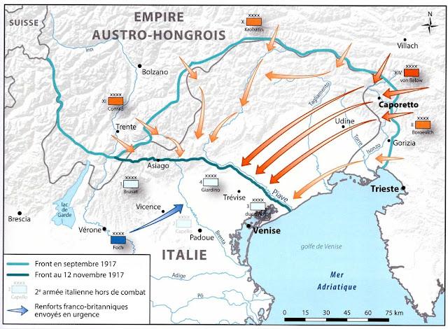 Débâcle italienne en octobre 1917