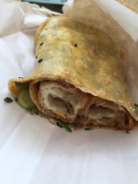 chinese donut crepe;  crepe village