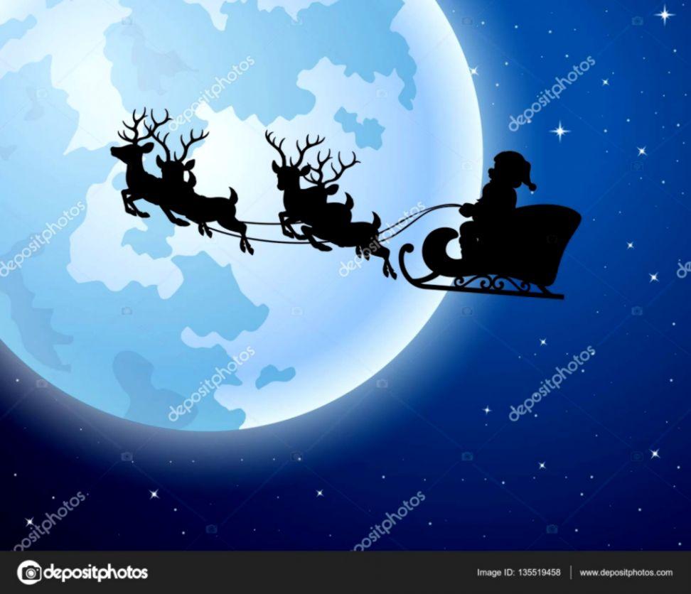Santa Claus Riding Sleigh Vector Wallpaper Image Wallpapers