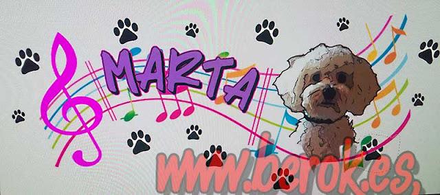 Boceto de Marta con perro caniche