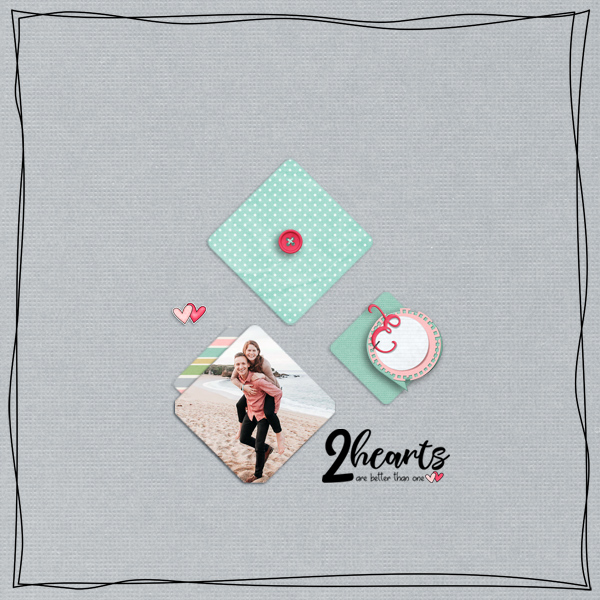 two hearts © sylvia • sro 2018 • two hearts collab by fayette designs, jen yurko & jumpstart designs